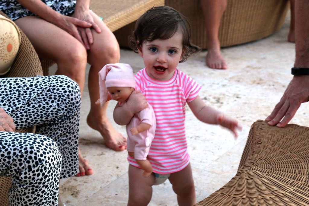 Alexa and her favorite Corolle doll totally bonded during our Turks and Caicos vacation.