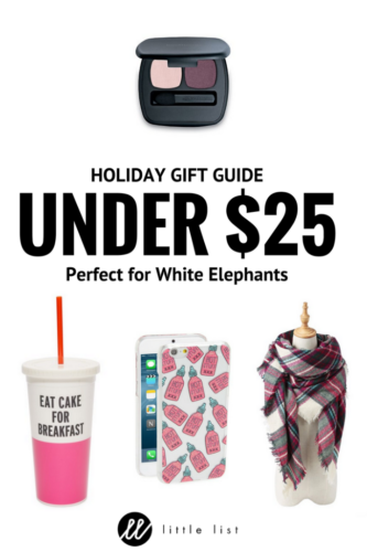 holiday gifts, gifts under $25, inexpensive gifts, gifts for women, white elephant gifts, christmas gifts, holiday gifts