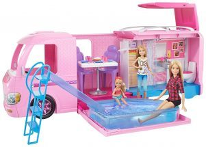 barbie gifts, barbie camper